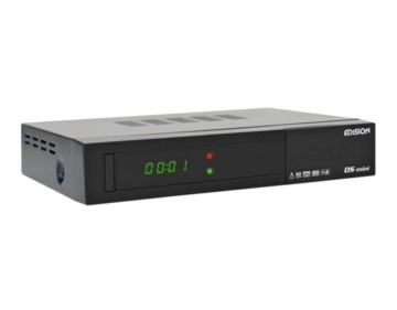 Edision OS mini 2x DVB-S2 Full HD Linux Sat-Receiver schwarz